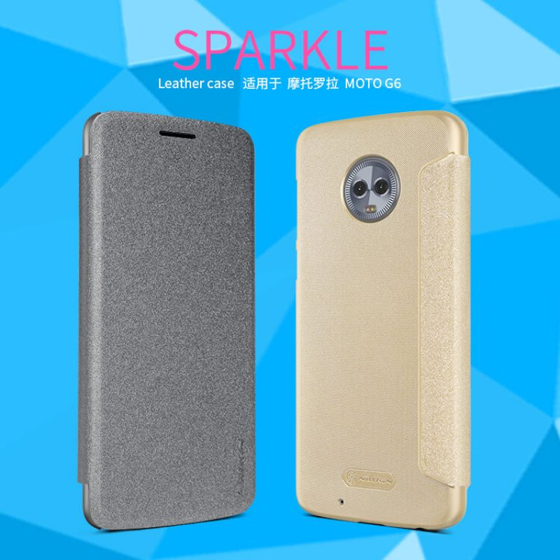 Nillkin Sparkle Series New Leather case for Motorola Moto G6 order from official NILLKIN store