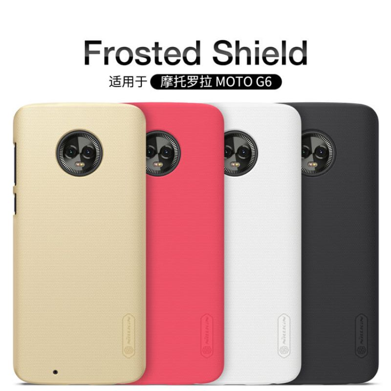 Nillkin Super Frosted Shield Matte cover case for Motorola Moto G6 + free screen protector order from official NILLKIN store