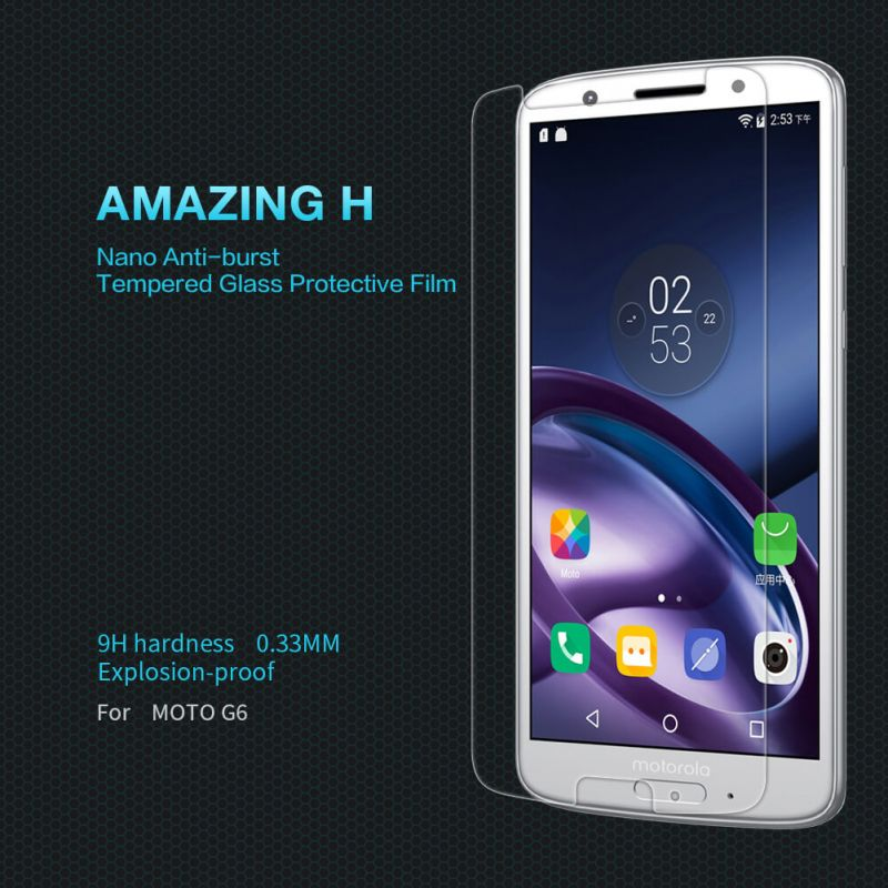 Nillkin Amazing H tempered glass screen protector for Motorola Moto G6 order from official NILLKIN store