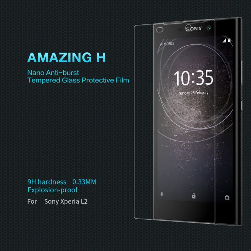 Nillkin Amazing H tempered glass screen protector for Sony Xperia L2 order from official NILLKIN store