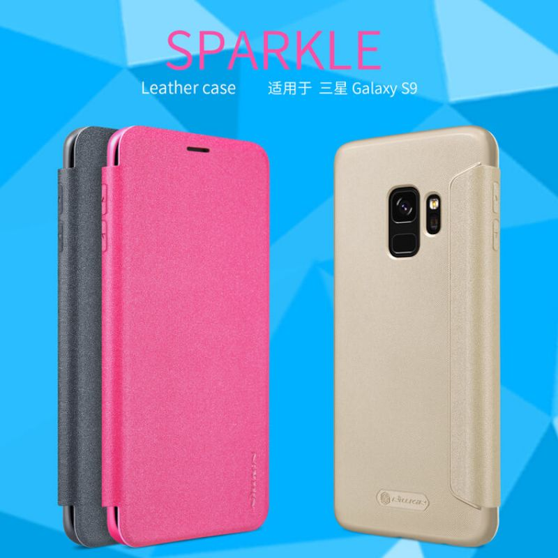 Nillkin Sparkle Series New Leather case for Samsung Galaxy S9 order from official NILLKIN store