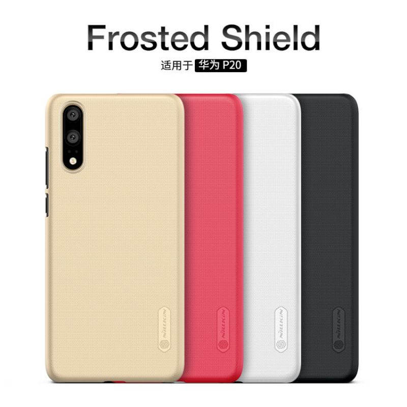 Nillkin Super Frosted Shield Matte cover case for Huawei P20 + free screen protector order from official NILLKIN store