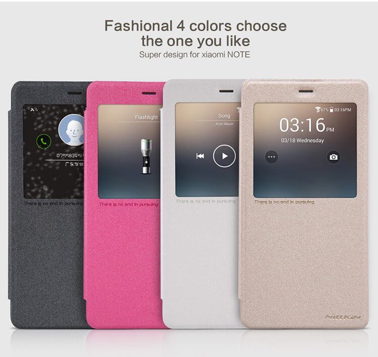 Nillkin Sparkle Series New Leather case for Xiaomi Note (Hongmi Mi Note)