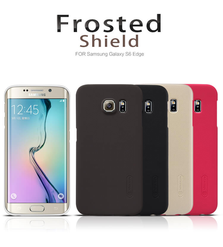 Nillkin Super Frosted Shield Matte cover case for Samsung Galaxy S6 Edge (G9250) + free screen protector
