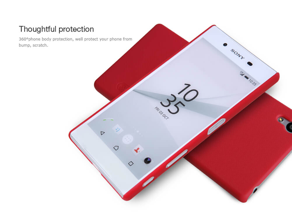 Nillkin Super Frosted Shield Matte cover case for Sony Xperia Z5 (E5803 E6603 E6633 E6653 E6683) + free screen protector