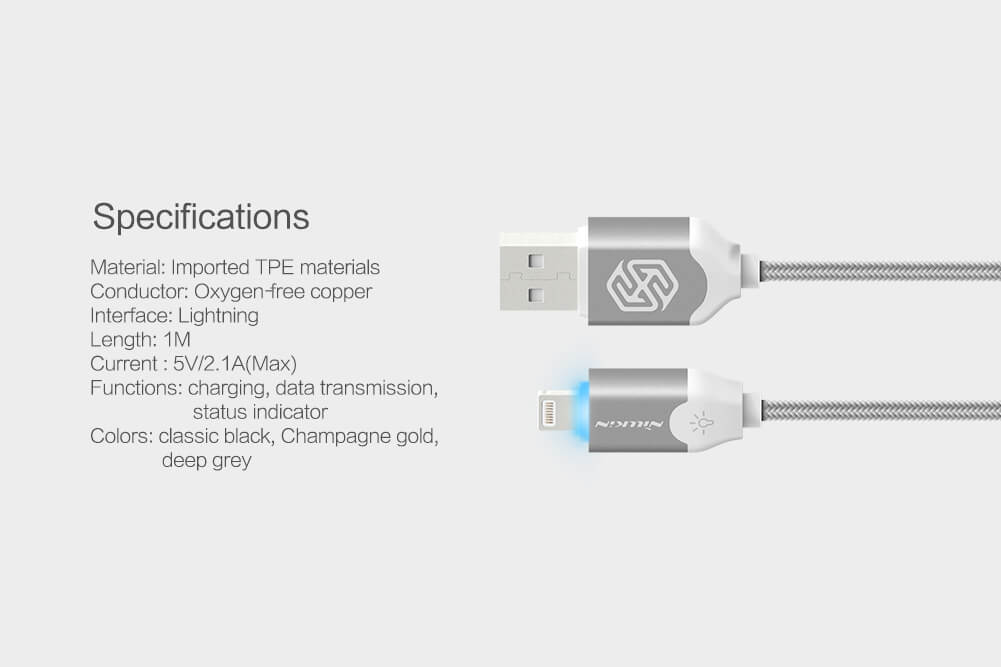 Nillkin Aurora Lightning high quality cable