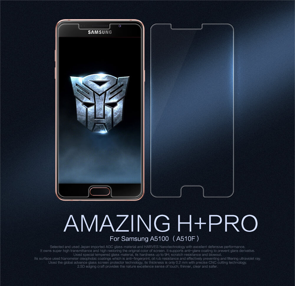 Nillkin Amazing H+ Pro tempered glass screen protector for Samsung A5100 (A510F)