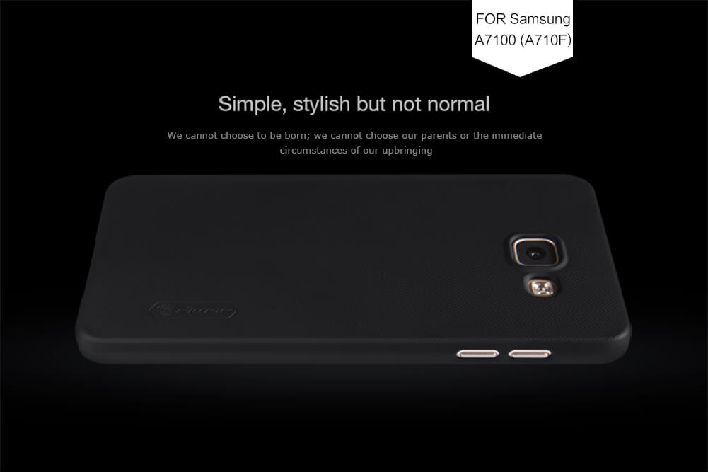 Nillkin Super Frosted Shield Matte cover case for Samsung A7100 (A710F) + free screen protector