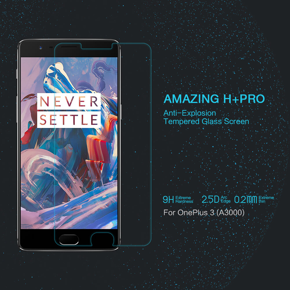 Nillkin Amazing H+ Pro tempered glass screen protector for Oneplus 3 (A3000 A3003 A3005)