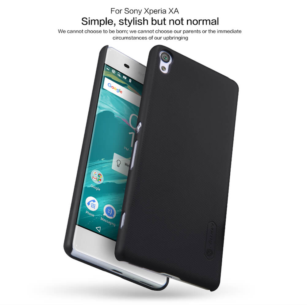 Nillkin Super Frosted Shield Matte cover case for Sony Xperia XA + free screen protector