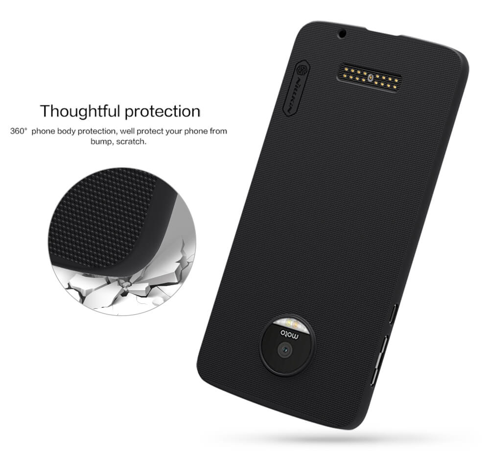 Nillkin Super Frosted Shield Matte cover case for Motorola Moto Z + free screen protector