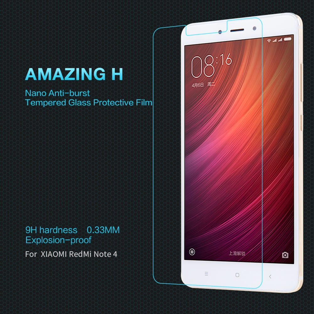 Nillkin Amazing H tempered glass screen protector for Xiaomi Redmi Note 4 / Redmi Note 4 Pro / Redmi Note 4X / Redmi Note 4X Pro