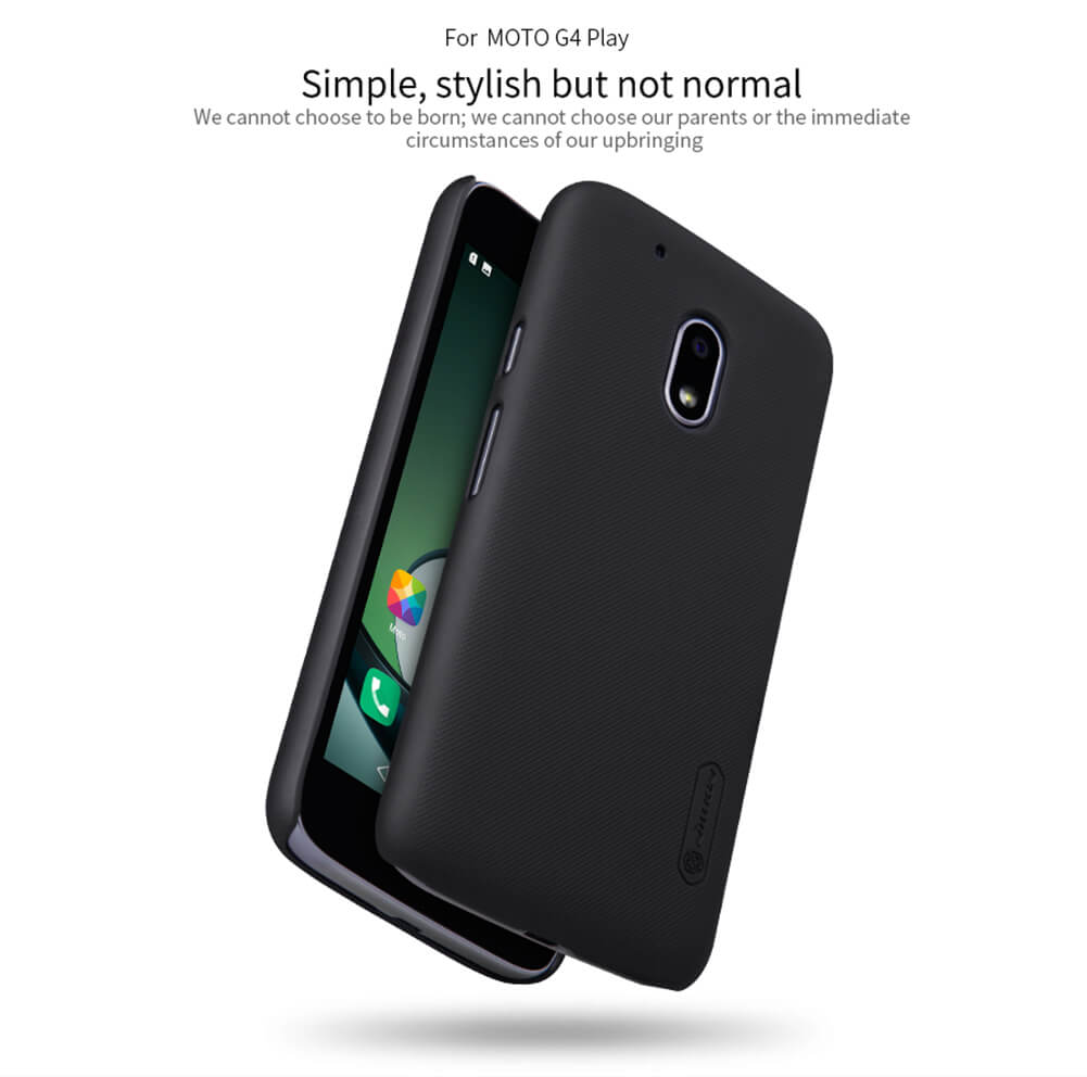 Nillkin Super Frosted Shield Matte cover case for Motorola Moto G4 Play + free screen protector