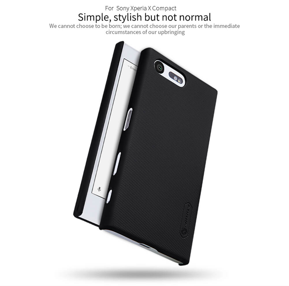Nillkin Super Frosted Shield Matte cover case for Sony Xperia X Compact + free screen protector