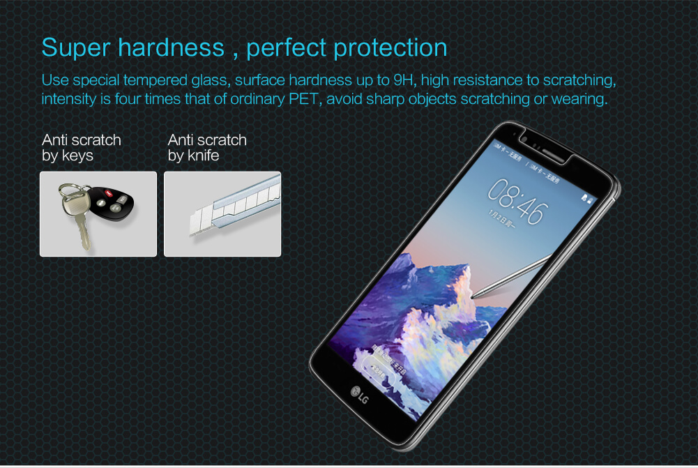 Nillkin Amazing H tempered glass screen protector for LG Stylus 3 (M400DK)