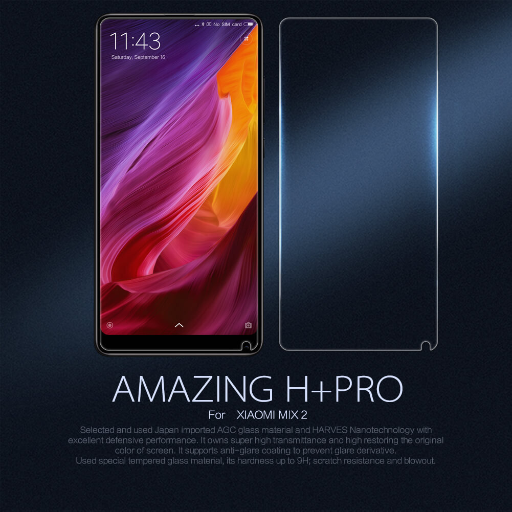 Nillkin Amazing H+ Pro tempered glass screen protector for Xiaomi Mi MIX 2