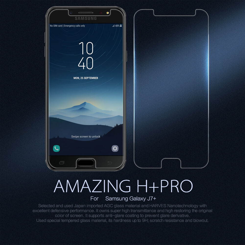 Nillkin Amazing H+ Pro tempered glass screen protector for Samsung Galaxy J7 Plus J7+ (C8)