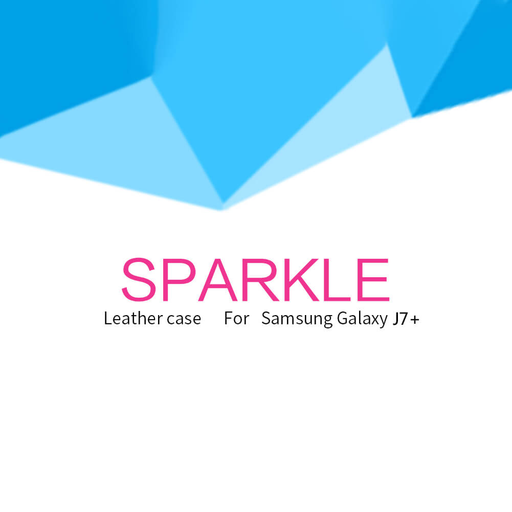 Nillkin Sparkle Series New Leather case for Samsung Galaxy J7 Plus J7+ (C8)