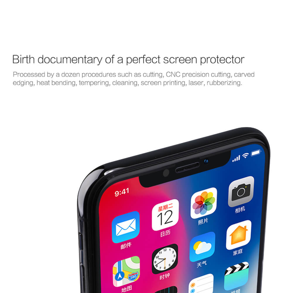 Nillkin Amazing 3D CP+ Max tempered glass screen protector for Apple iPhone X
