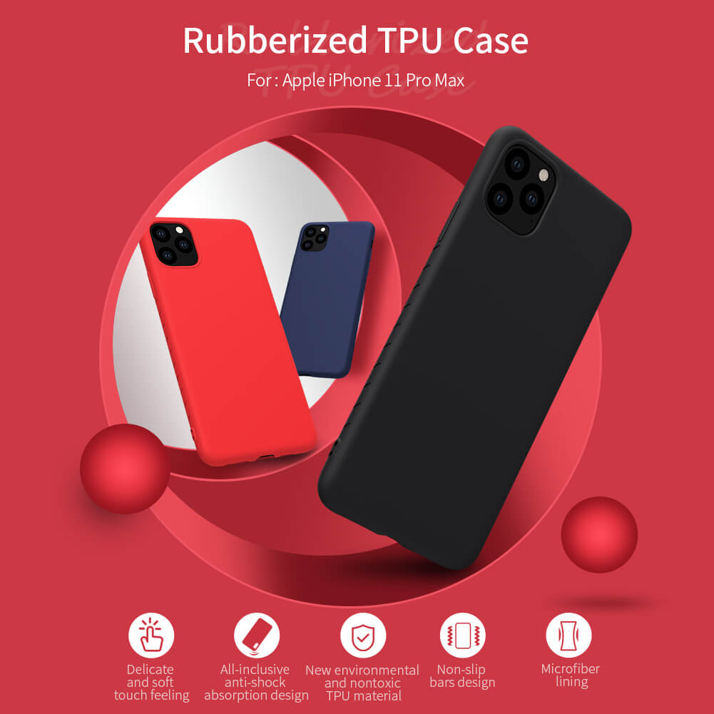 Nillkin Rubber Wrapped protective cover case for Apple iPhone 11 Pro Max (6.5)
