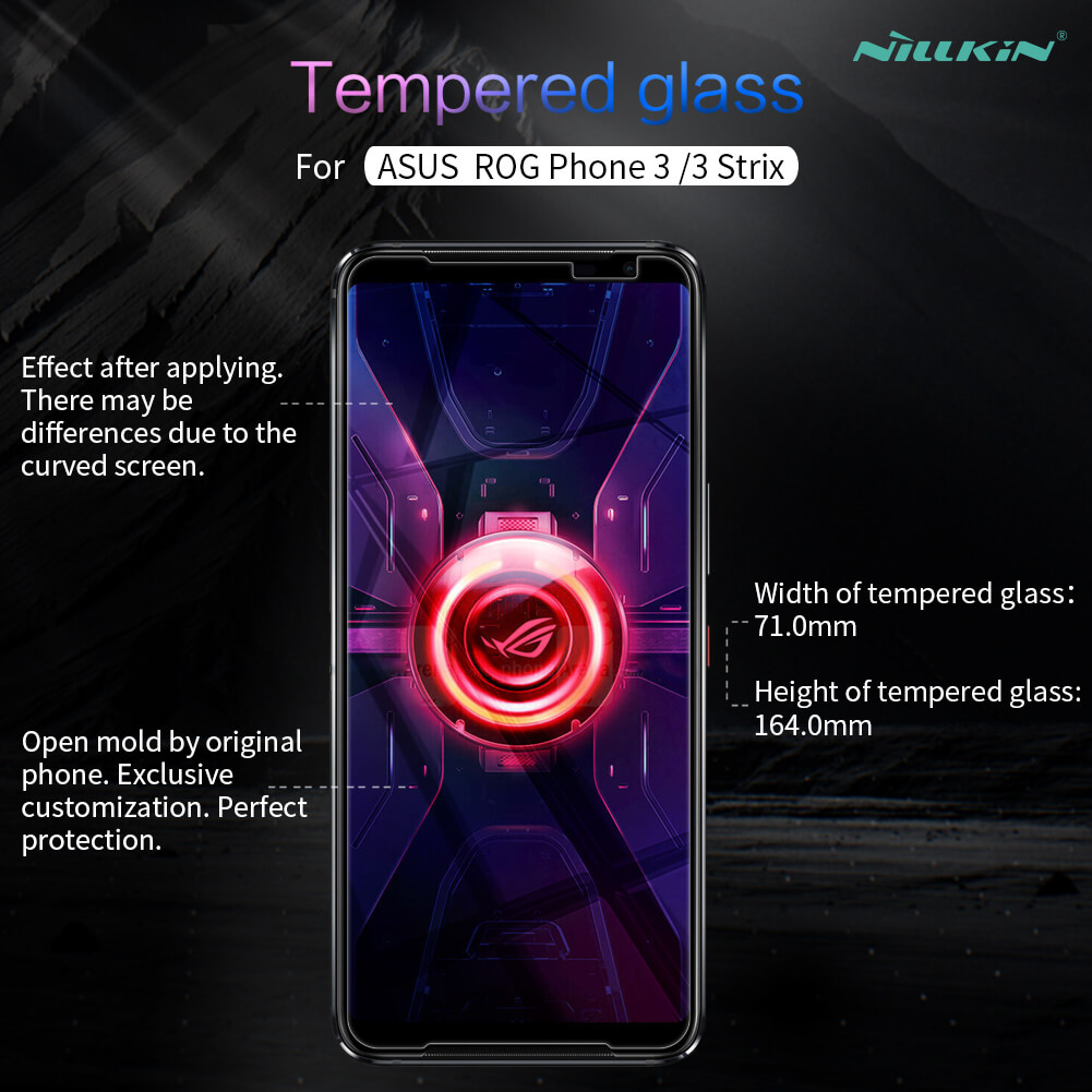 Nillkin Amazing H+ Pro tempered glass screen protector for Asus ROG Phone 3 (ZS661KS), ROG Phone 3 Strix Edition
