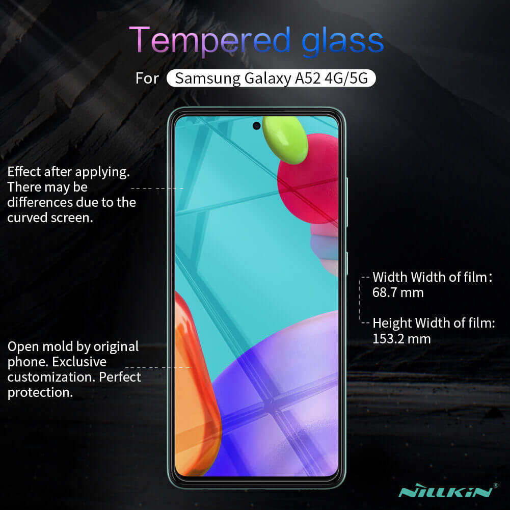 Nillkin Amazing H+ Pro tempered glass screen protector for Samsung Galaxy A52 4G, A52 5G