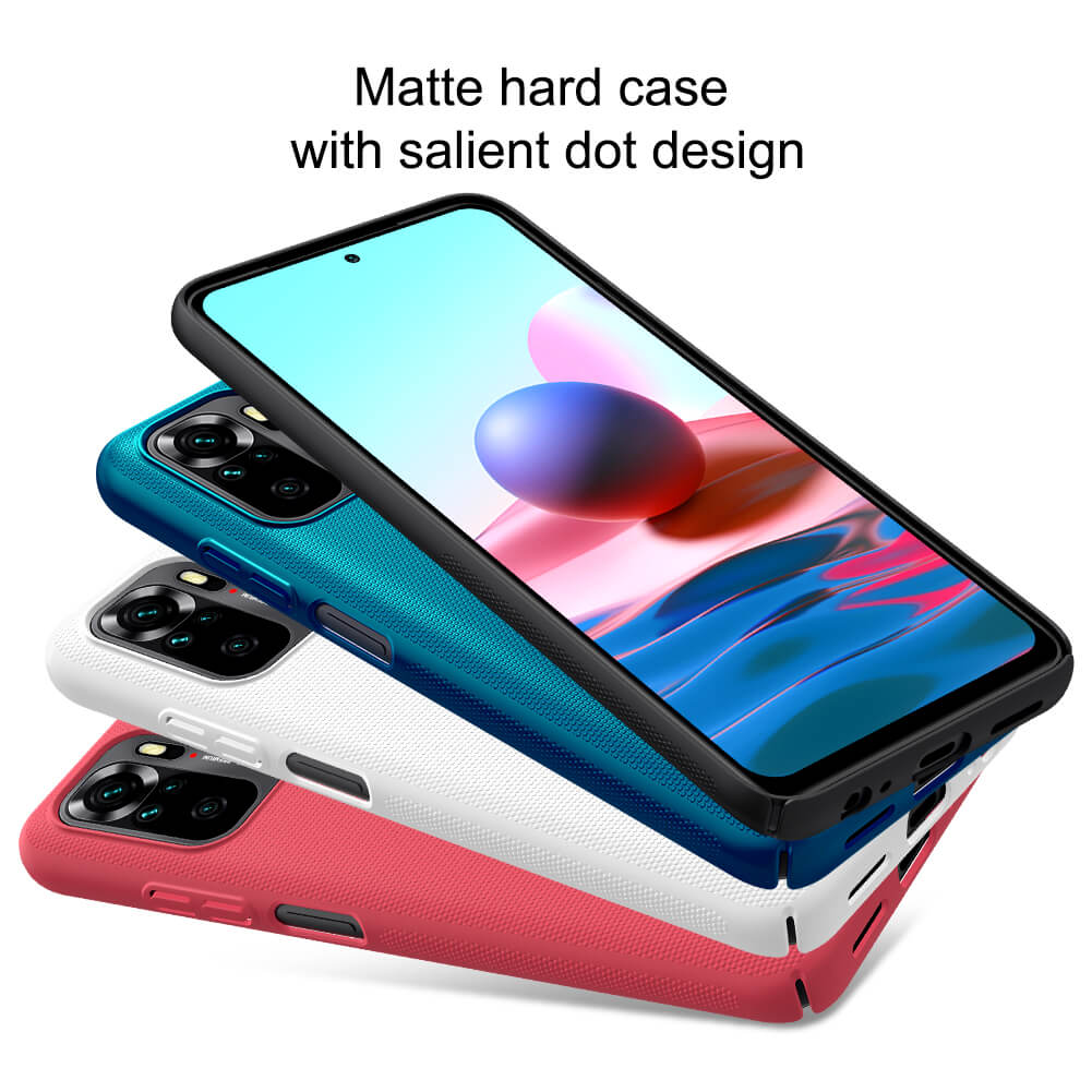 Nillkin Super Frosted Shield Matte cover case for Xiaomi Redmi Note 10 4G (Global), Redmi Note 10S (India) (available in April)