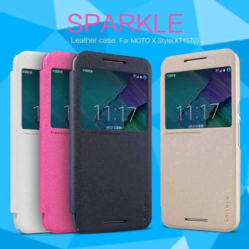 watch 3c511 79de6 Nillkin Sparkle Series New Leather case for Motorola Moto X Style (Moto X  Pure Edition XT1570 Moto X+2)
