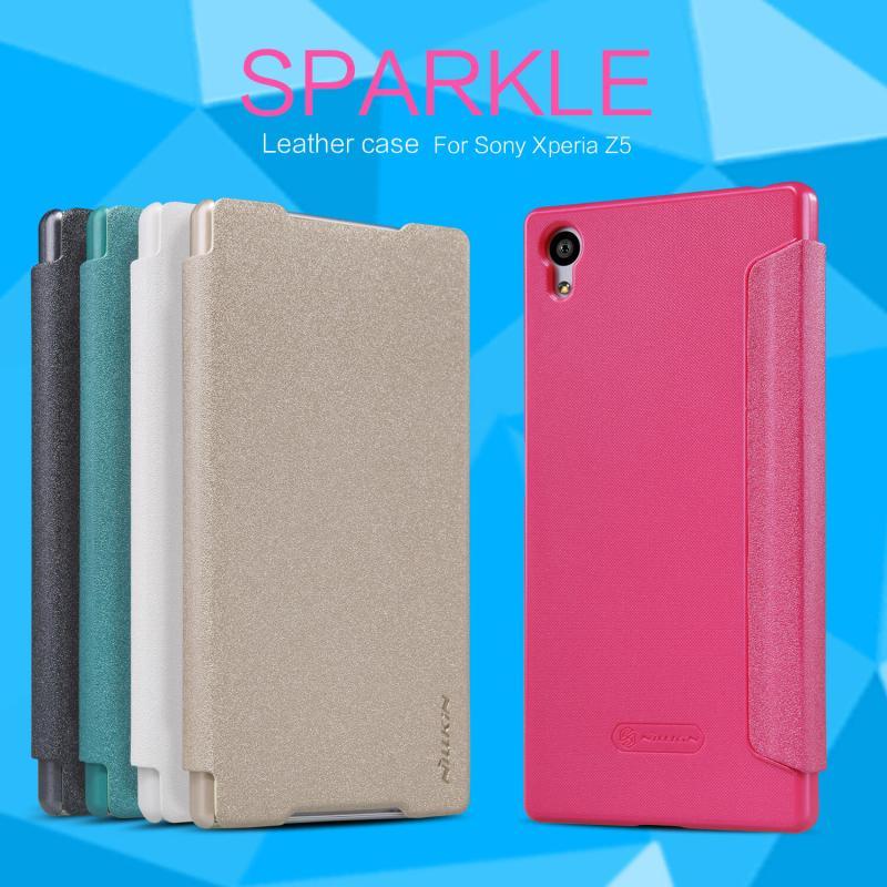 Nillkin Sparkle Series New Leather case for Sony Xperia Z5 (E5803 E6603 E6633 E6653 E6683) order from official NILLKIN store