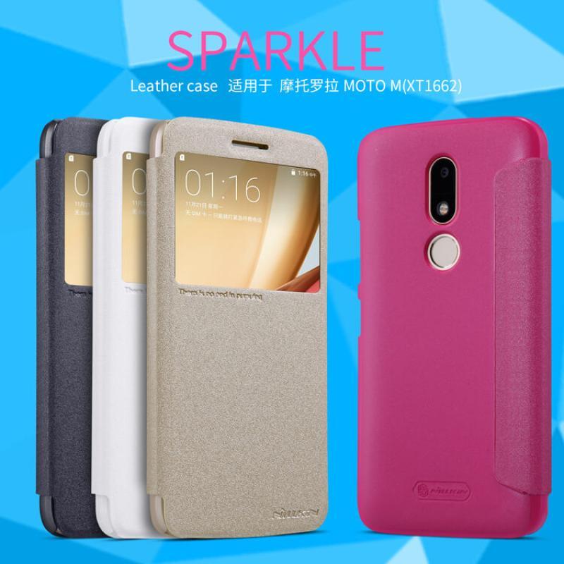 Nillkin Sparkle Series New Leather case for Motorola Moto M (XT1662