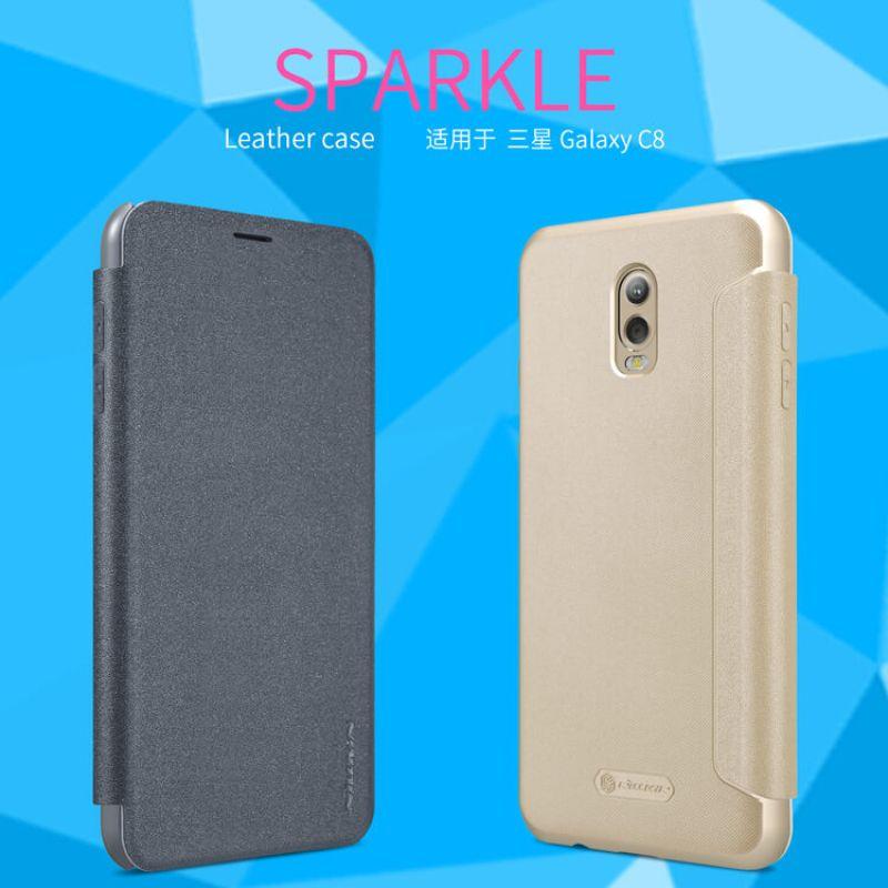 big sale 34d17 92375 Nillkin Sparkle Series New Leather case for Samsung Galaxy J7 Plus J7+ (C8)