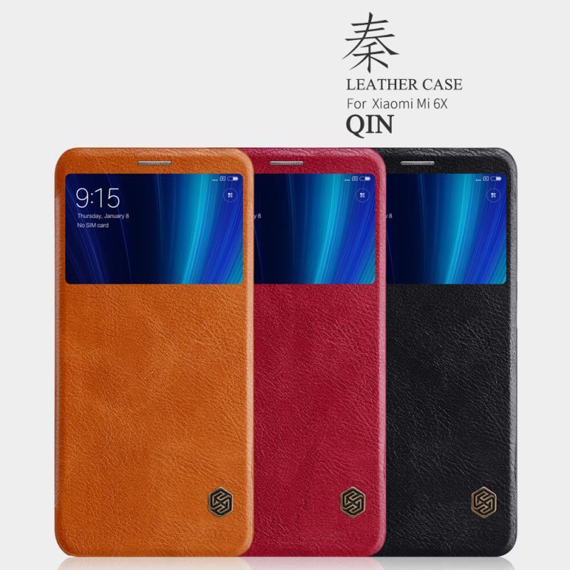 Nillkin Qin Series Leather case for Xiaomi Mi 6X (Xiaomi Mi A2) order from official NILLKIN store