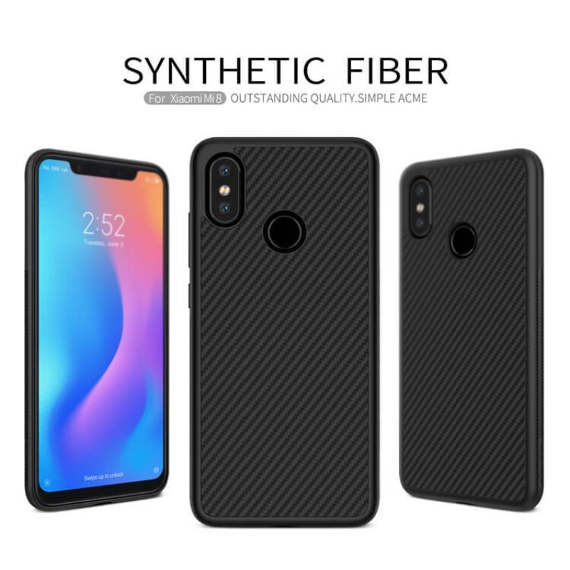 brand new 2d571 ecbf3 Nillkin Synthetic fiber Series protective case for Xiaomi Mi8 (Mi 8)
