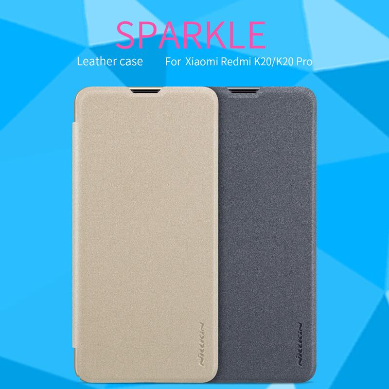 Nillkin Sparkle Series New Leather case for Xiaomi Redmi K20, K20 Pro  (Xiaomi Mi9T, Mi9T Pro)