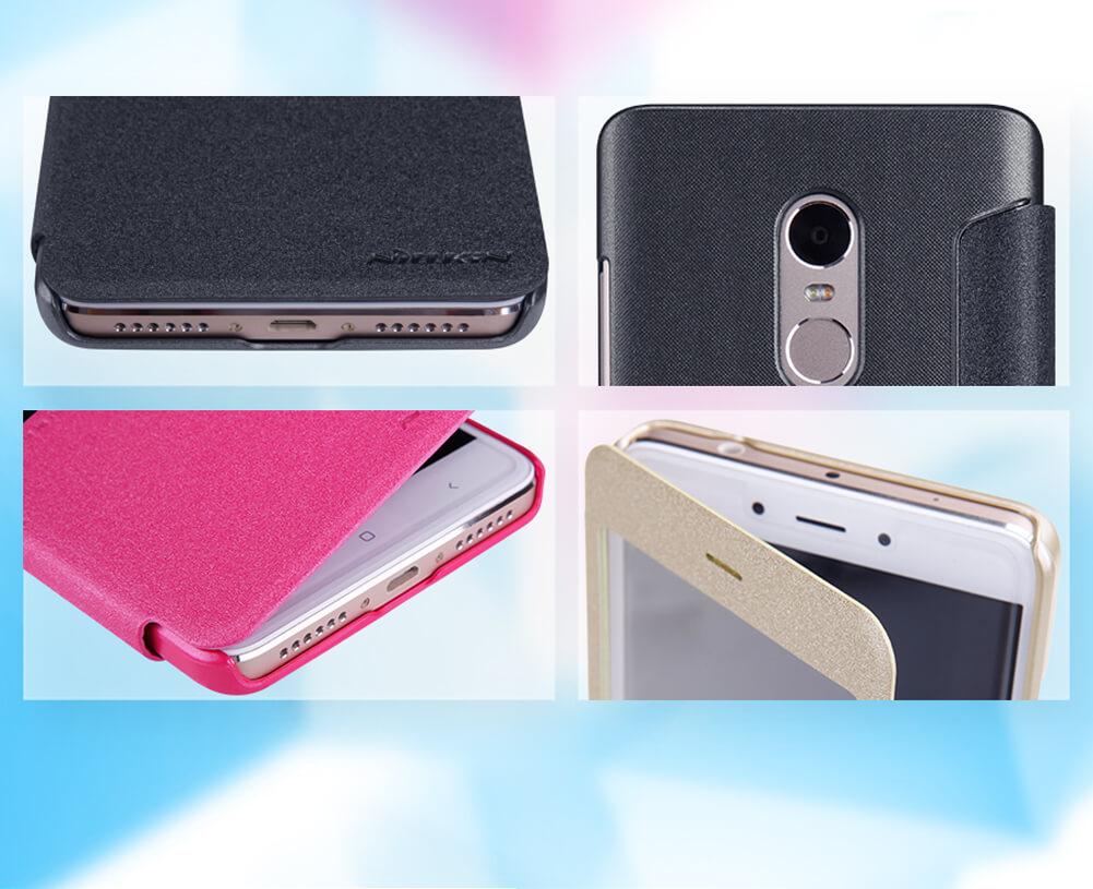 online retailer f7338 06d5b Nillkin Sparkle Series New Leather case for Xiaomi Redmi Note 4 / Redmi  Note 4 Pro / Redmi Note 4X Pro