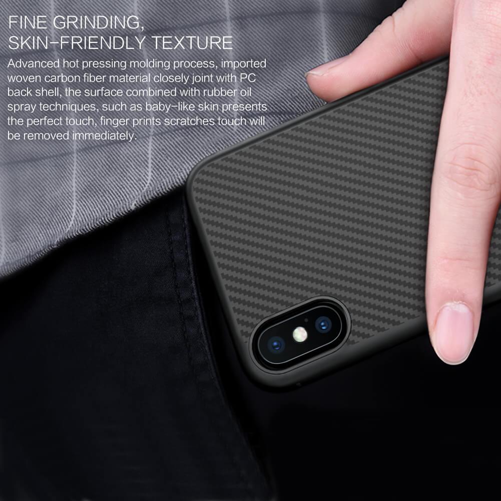 Vỏ bảo vệ dòng sợi tổng hợp Nillkin dành cho Apple iPhone XS, iPhone X