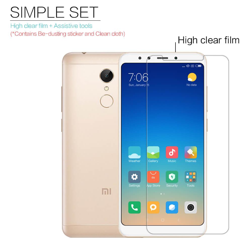 Nillkin Super Clear Anti-fingerprint Protective Film for Xiaomi Redmi 5  Plus (Xiaomi Redmi Note 5)