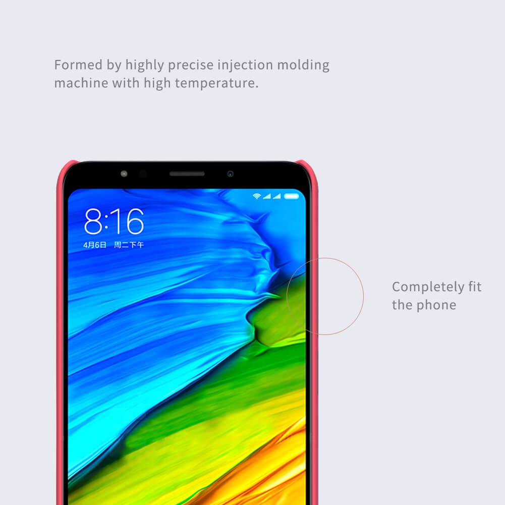 Nillkin Super Frosted Shield Matte cover case for Xiaomi Redmi 5 Plus (Xiaomi Redmi Note 5) + free screen protector