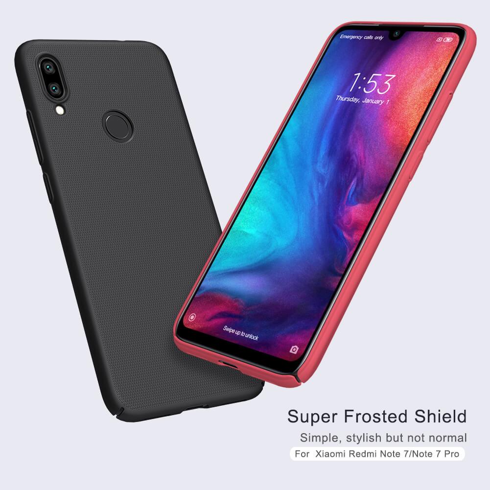 Nillkin Super Frosted Shield Matte cover case for Xiaomi Redmi Note 7, Redmi Note 7 Pro