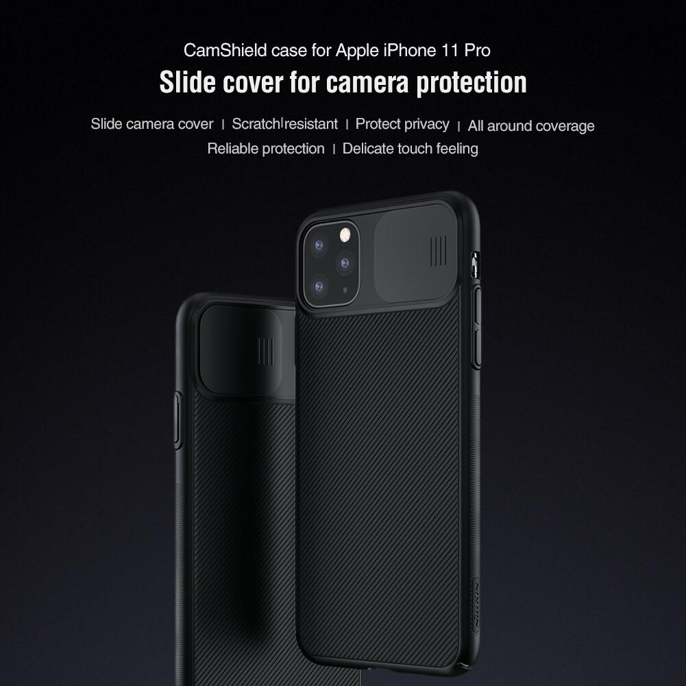 Ốp lưng chống sốc bảo vệ Camera cho iPhone 11 Pro - 11 Pro Max hiệu Nillkin Camshield