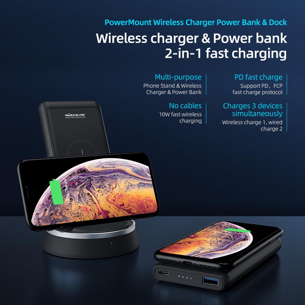 Ngân hàng & Dock sạc không dây NILLKIN PowerMount