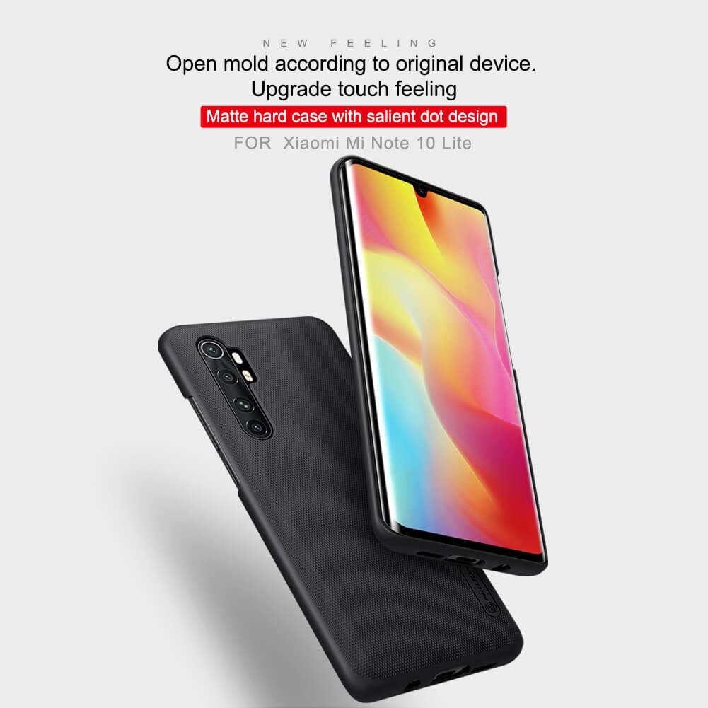 Nillkin Super Frosted Shield Matte cover case for Xiaomi Mi Note 10 Lite