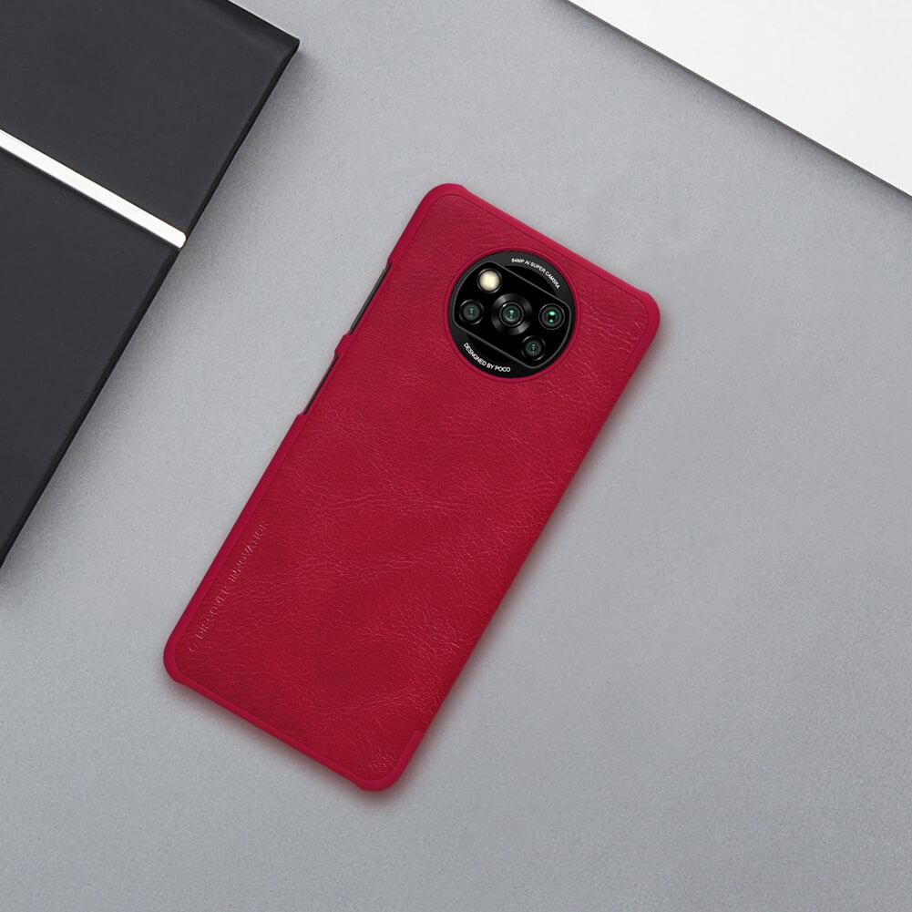 Nillkin Qin Series Leather case for Xiaomi Pocophone X3 NFC (Poco X3 NFC)