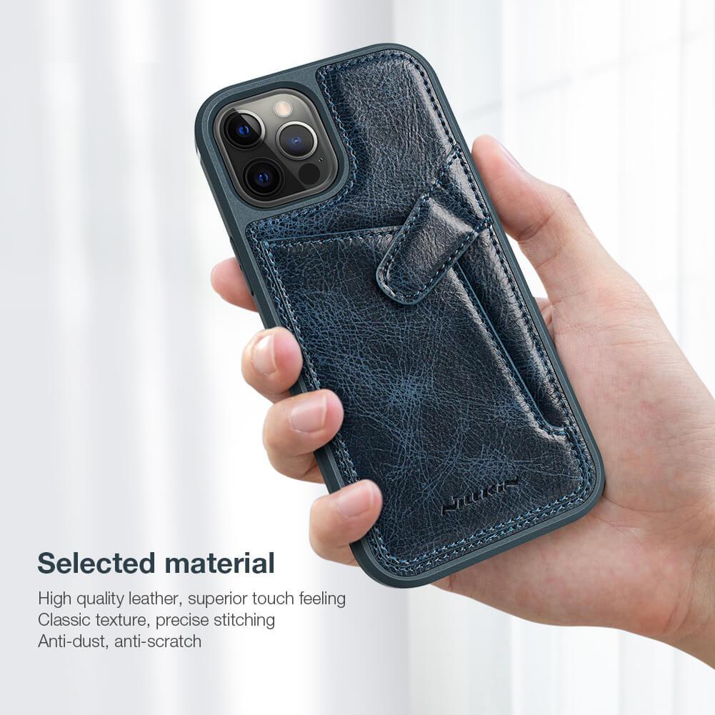 Bao da Nillkin Aoge Leather Cover cho Apple iPhone 12 Pro Max 6.7